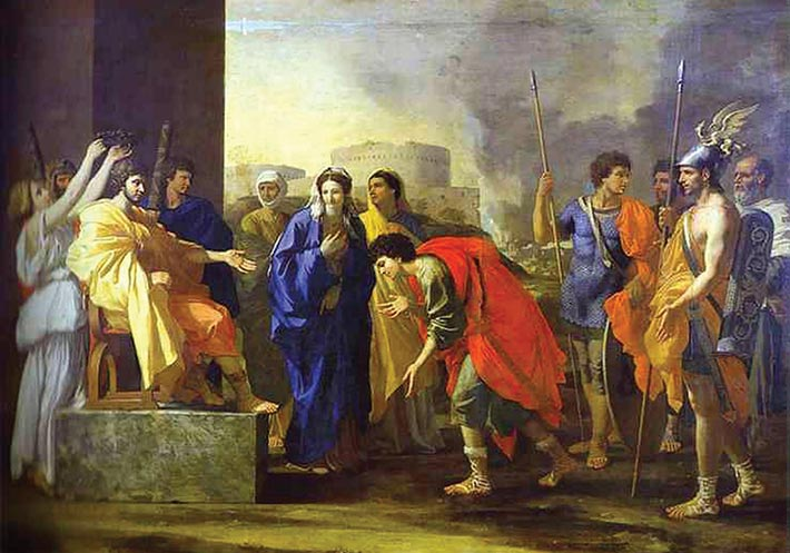 Scipio's Noble Deed (1640), painting, by Nicholas Poussin. Roman general Publius Cornelius Scipio Africanus conquered the port of Carthage located in what is today southern Spain.