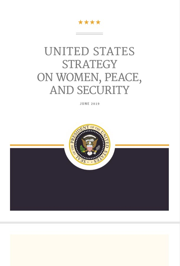United States Strategy on Women, Peace, and Security
