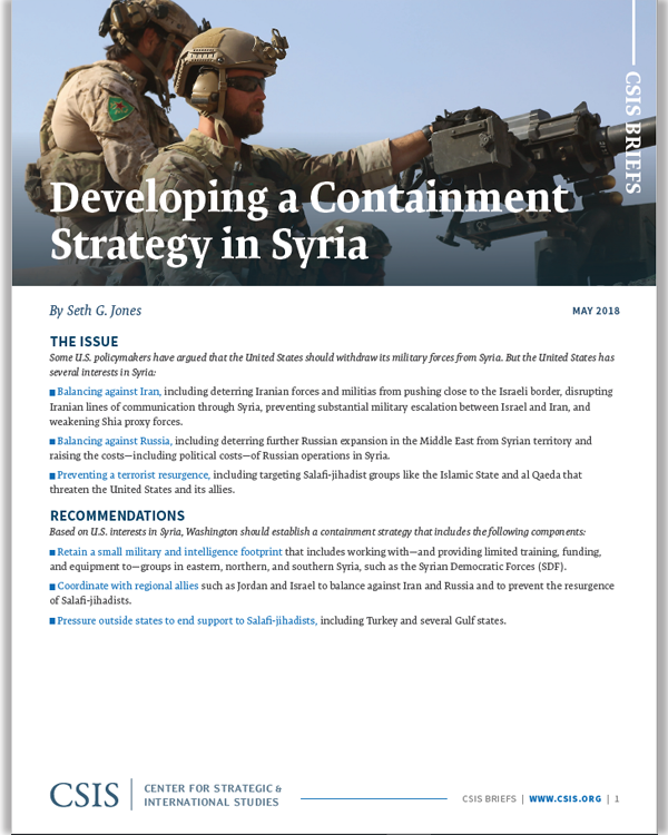 Developing a Containment Strategy in Syria