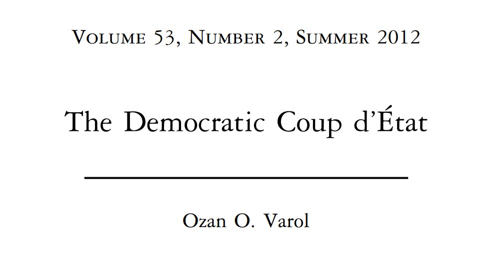 The Democratic Coup d'E´ tat - cover