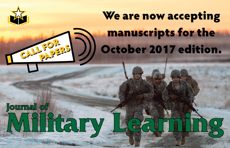 Journal of Military Learning Call for Papers Ad