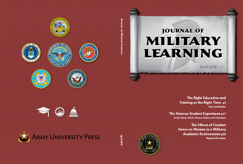 Journal of Military Learning April 2018 Cover