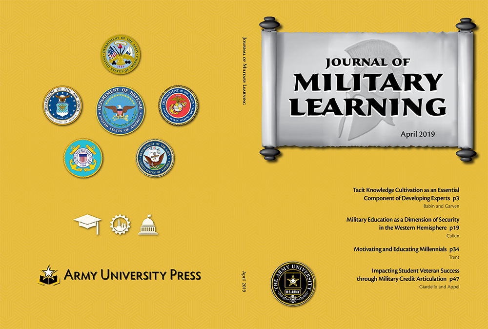 Journal of Military Learning October 2018 Cover