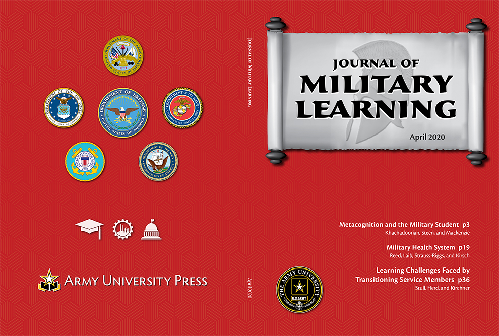 Journal of Military Learning April 2020 Cover