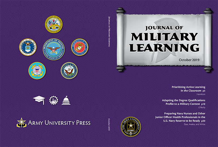 Journal of Military Learning October 2019 Cover