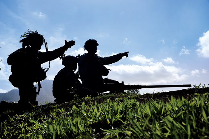 Soldiers-Silhouette-pointing
