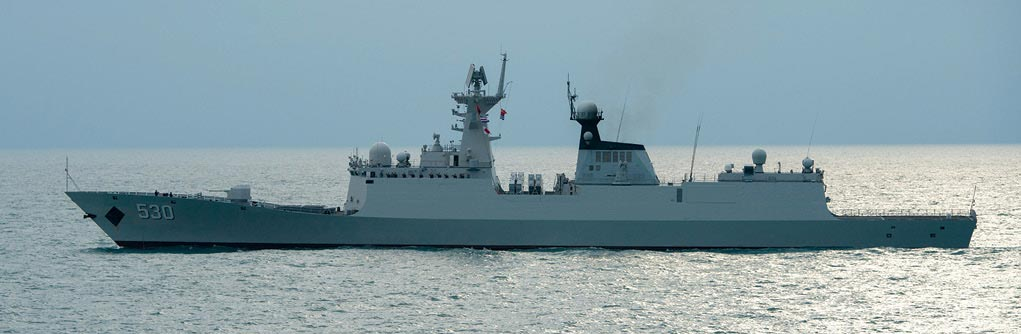 The People's Liberation Army Navy (PLAN) Jiangkai II class guided-missile frigate Xuzhou (FFG 530)