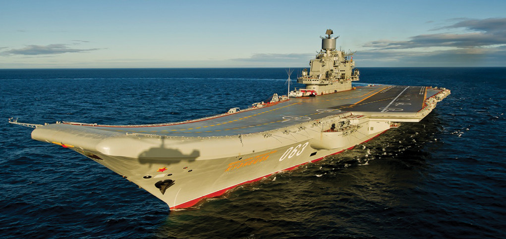 Russia's only aircraft carrier, Admiral Kuznetsov, 2 August 2012. The mechanically plagued ship is a target ripe for public ridicule, according the author of this article. (Photo courtesy Wikimedia Commons)