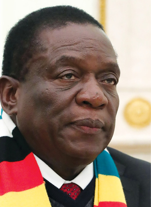 President of the Republic of Zimbabwe, Emmerson Mnangagwa, on 15 January 2019.