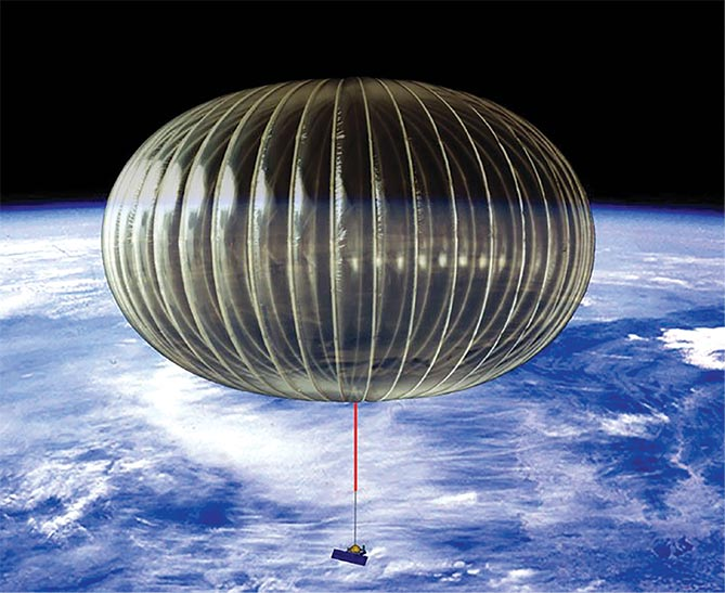 Flying near the edge of space, a NASA Ultra-Long Duration Balloon