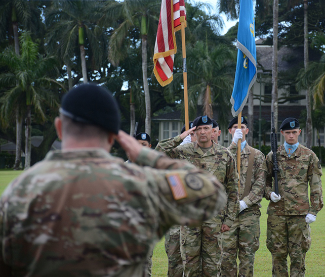 Command Sgt. Maj. Brian M. Dettle assumes responsibility as the Senior Enlisted Advisor of the 205th Military Intelligence Battalion
