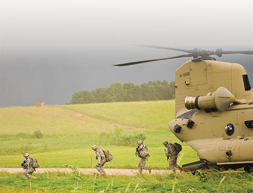 Soldiers from Bravo Company, 2nd Combined Arms Battalion, 136th Infantry Regiment (Minnesota Army National Guard)