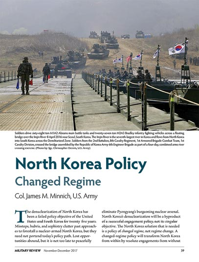 North Korea Policy Changed Regime