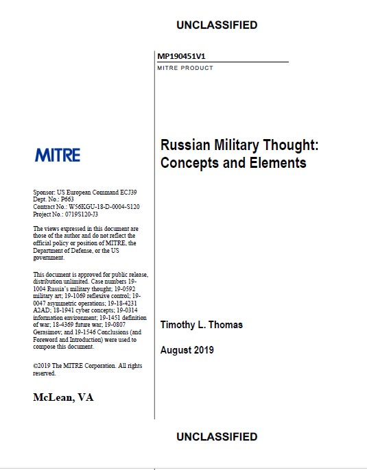 Russian Military Thought: Concepts and Elements