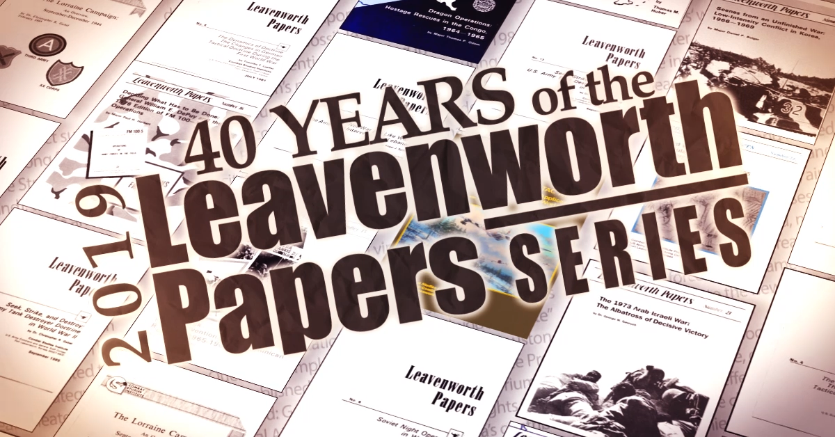 Leavenworth Papers 40th Anniversary 2019