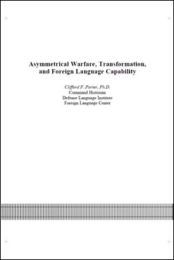 Asymmetrical Warfare, Transformation, and Foreign Language Capability