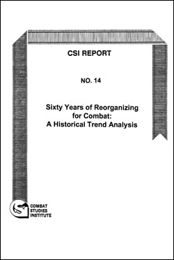 CSI Report No. 14: Sixty Years of Reorganizing for Combat: A Historical Trend Analysis