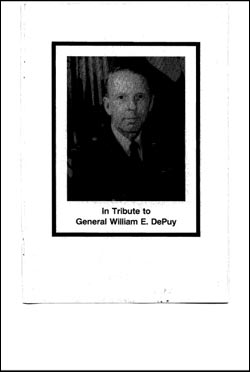 In Tribute to General William E. DePuy