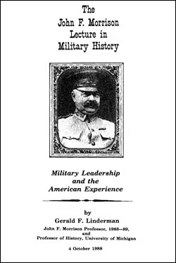 John F. Morrison Lecture in Military History