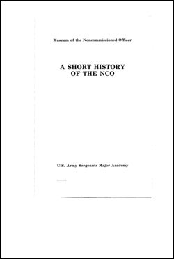 CSI Reprint: A Short History of the NCO
