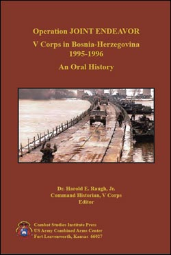 Operation JOINT ENDEAVOR: V Corps in Bosnia-Herzegovina 1995-1996