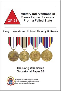Occasional Paper 28 Military Intervention in Sierra Leone