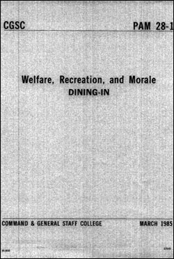 CGSC Pamphlet 28-1, Dining In