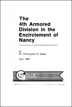 The 4th Armored Division in the Encirclement of Nancy