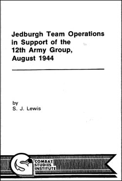 Jedburgh Team Operations in Support of the 12th Army Group, August 1944