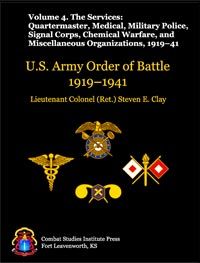U.S. Army Order of Battle, 1919-1941 - Vol 4