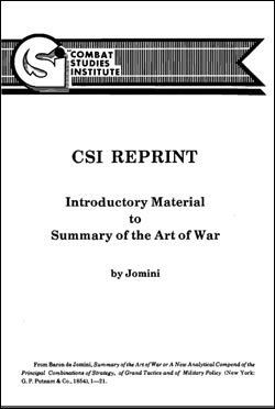 CSI Reprint: Introductory Material to a Summary of the Art of War