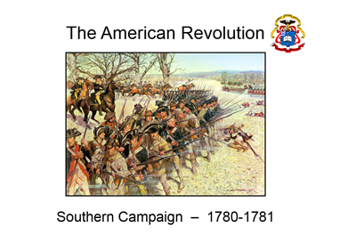 American Revolution - Southern Campaign Map