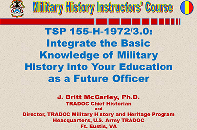 Integrate Military History Into Your Education