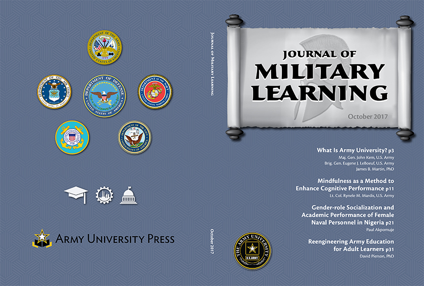 Journal of Military Learning April 2017 Cover