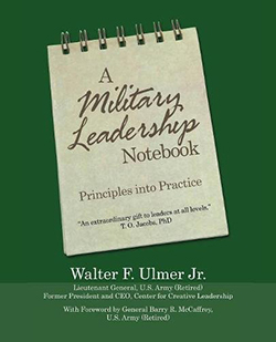 A Military Leadership Notebook Cover