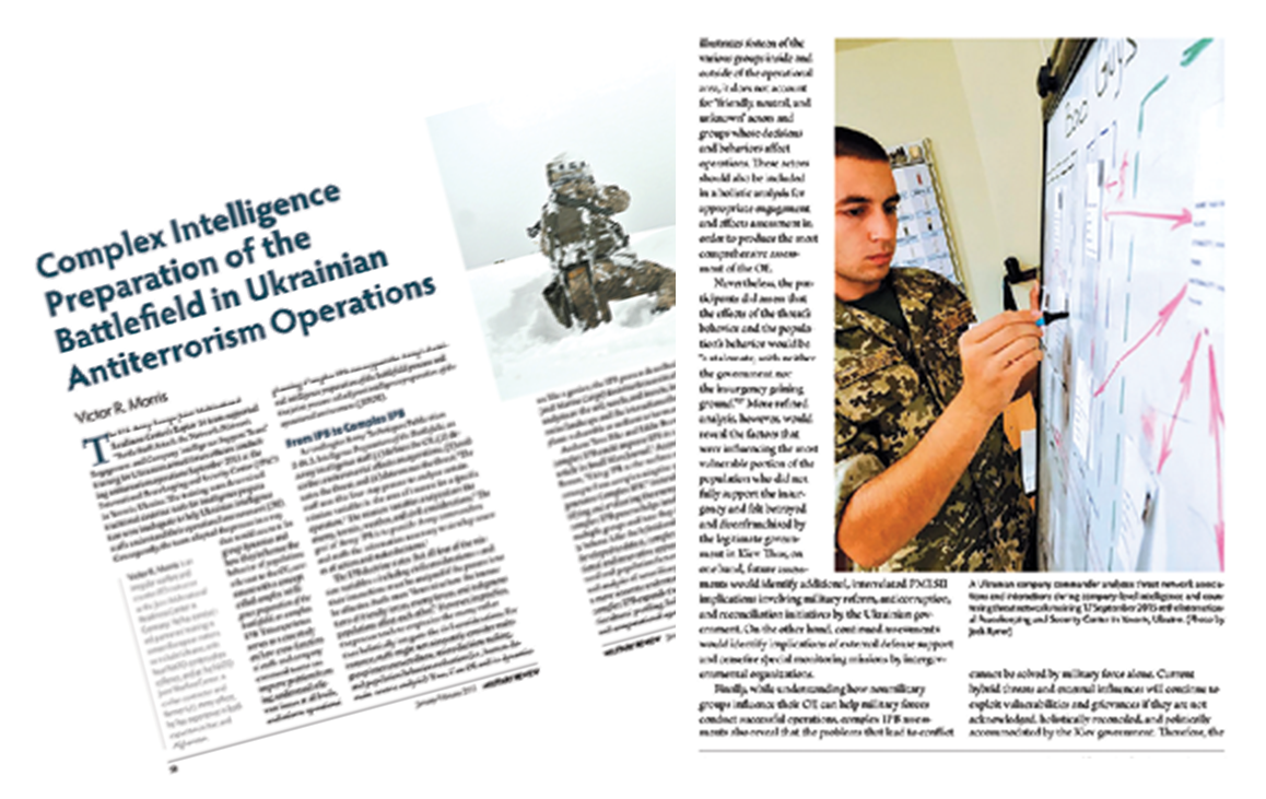 Complex Intelligence Preparation of the Battlefield in Ukrainian Antiterrorism Operations Article Image
