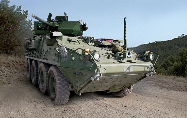 first prototype Stryker Infantry Carrier Vehicle
