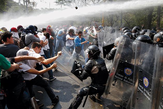 Venezuelan-protestors