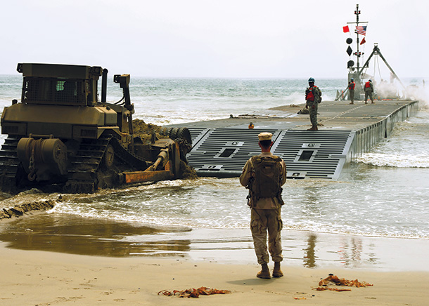 Bulldozer-Pushes-Army-Trident-Pier