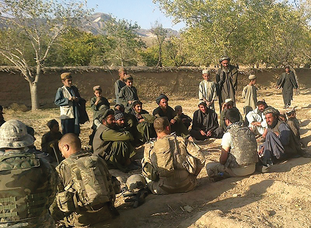 Special operations forces establish the first community defense initiative site July 2009 at Nili Village, Daykundi Province, Afghanistan.