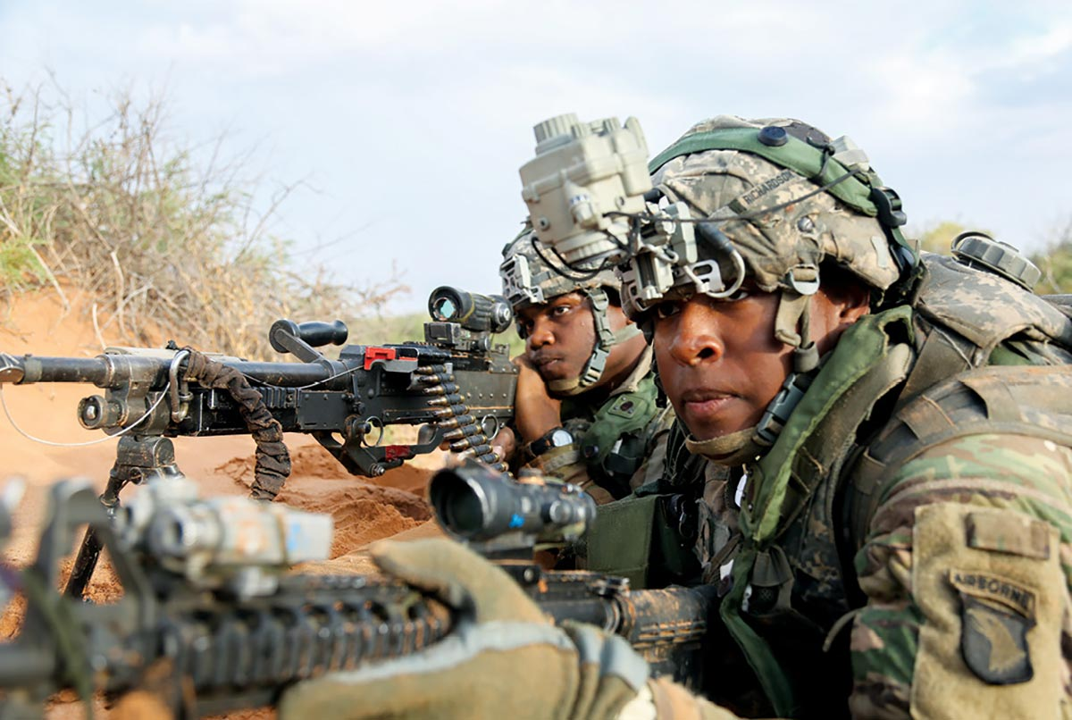 Soldiers assigned to the 1st Battalion, 502nd Infantry Regiment, 2nd Brigade Combat Team, 101st Airborne Division (Air Assault)