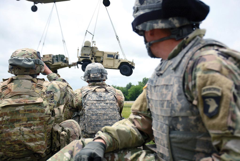 Soldiers from the 2nd Brigade Combat Team, 101st Airborne Division (Air Assault)