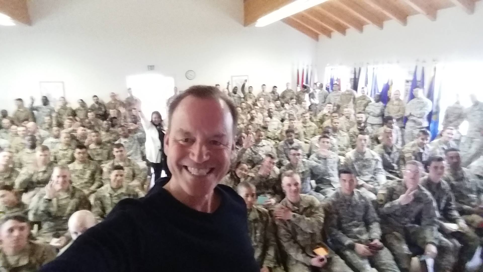Gregory Q. Cheek snapped a photo after speaking at the 7th Army NCO Academy in Bad Tolz, Germany. (Photo courtesy of Gregory Q. Cheek)