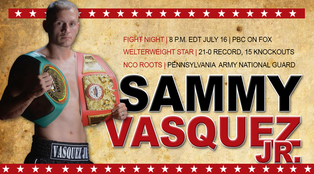 Sammy Vasquez Jr. (21-0, 15 knockouts) vs. Felix Diaz (17-1, 8 KOs) in welterweight fight.