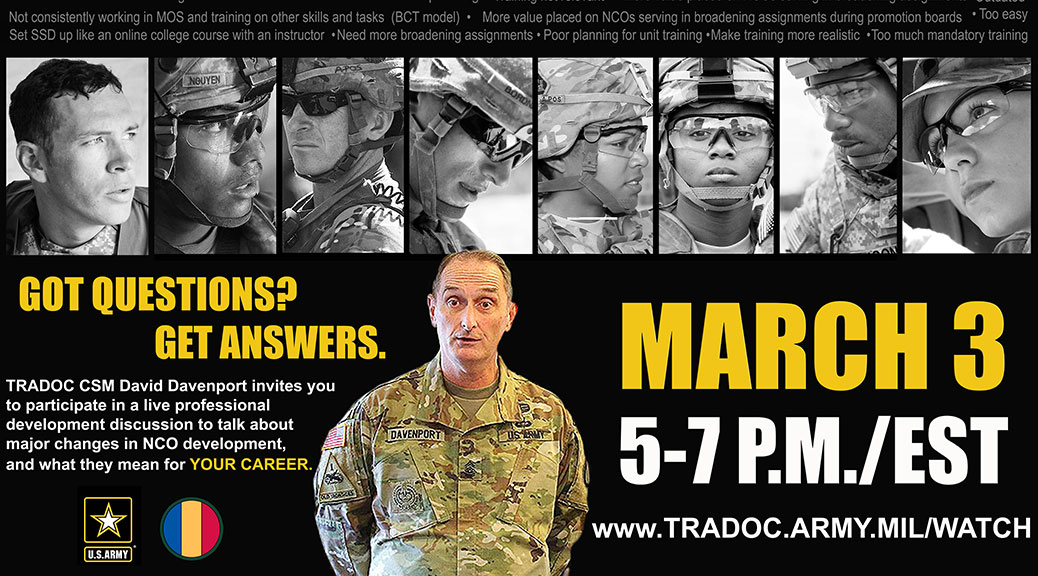 CSM David Davenport Answers Questions for NCOs