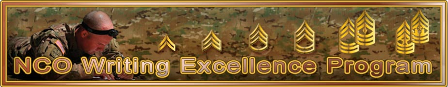 NCO Writing Excellence Program