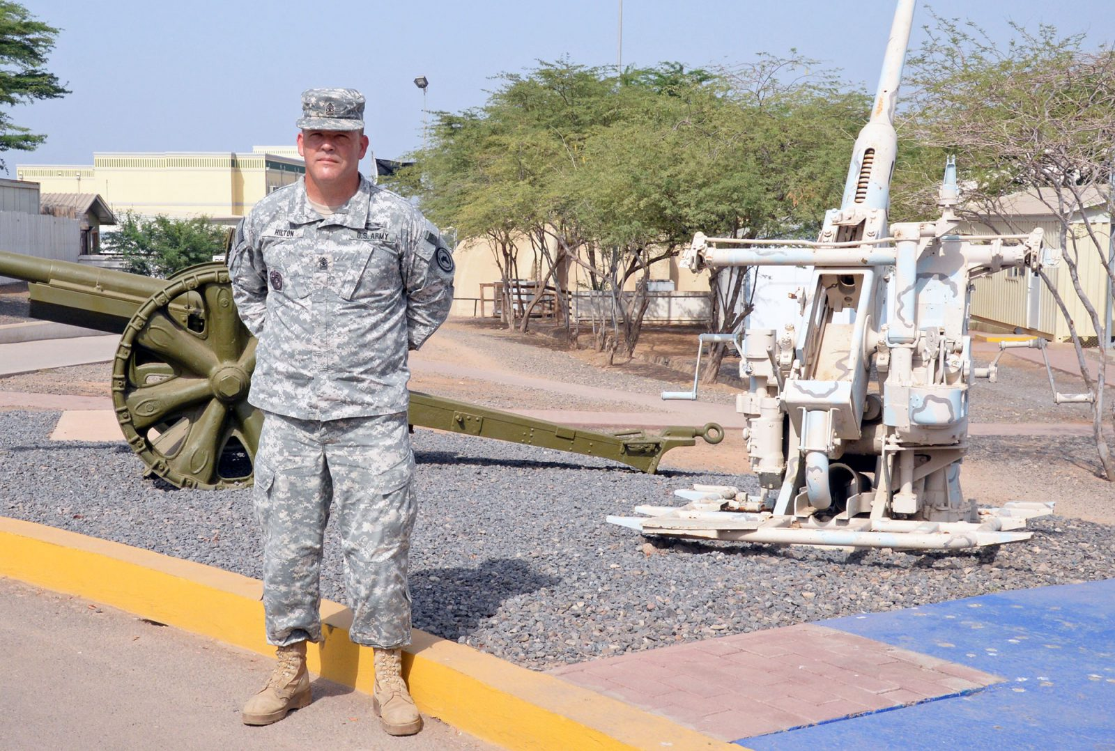 Sgt. Maj. John Hilton is serving in Djibouti as an embedded liaison officer for the Center for Army Lessons Learned. (Photo by Jonathan (Jay) Koester / NCO Journal)