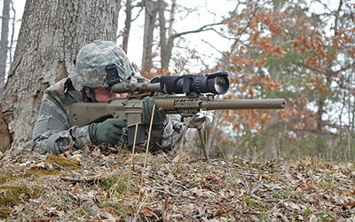 The Clip-on Sniper Night Sight is one of PEO Soldier's successful projects, which originated within the Soldier Enhancement Program. (Photos courtesy of PEO Soldier)