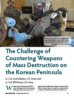 The Challenge of Countering Weapons of Mass Destruction on the Korean Peninsula
